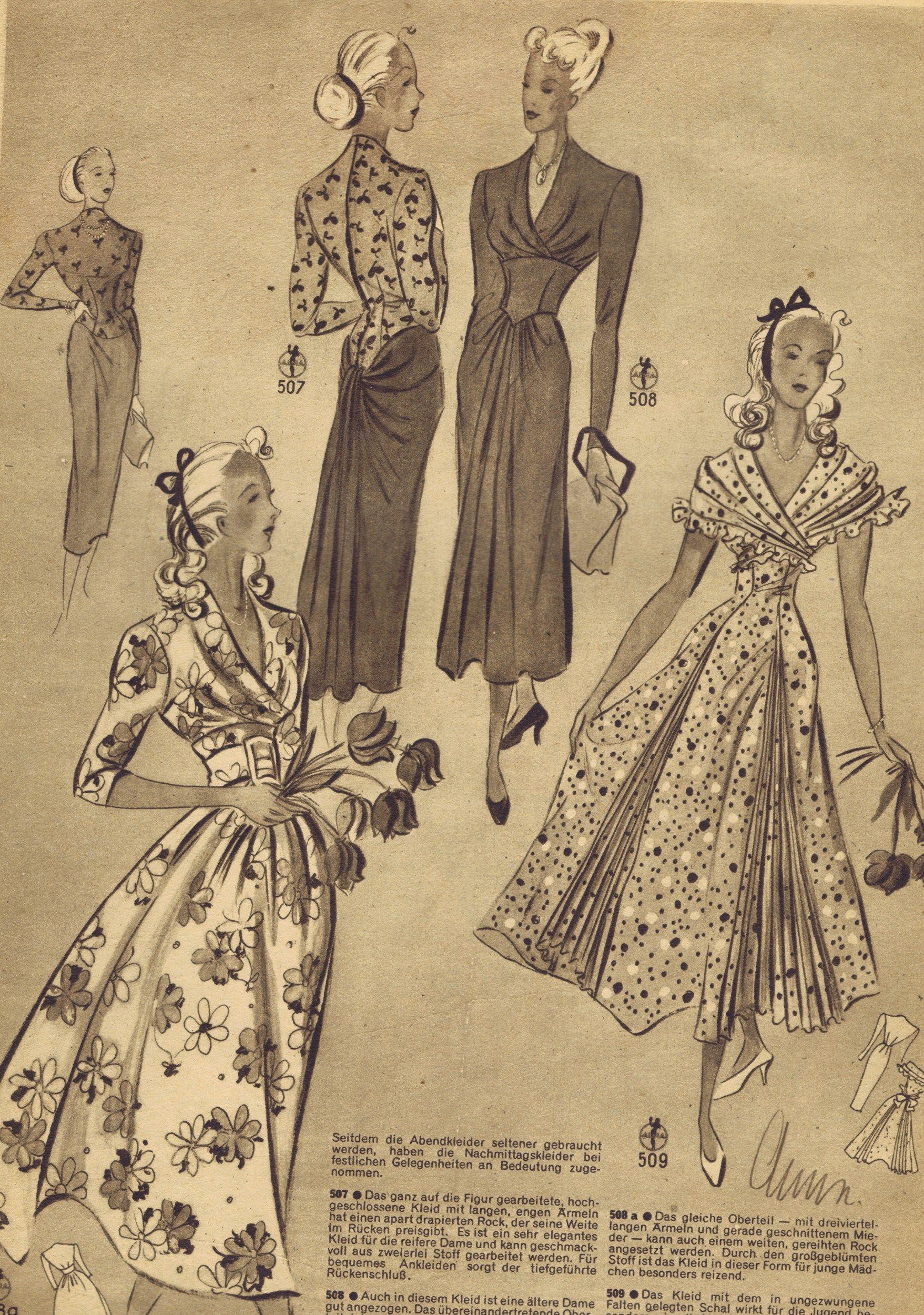 Free vintage 1940s sewing patterns german die alma mode dress free vintage 1940s sewing patterns german die alma mode vintage dress patternsclothing jeuxipadfo Choice Image