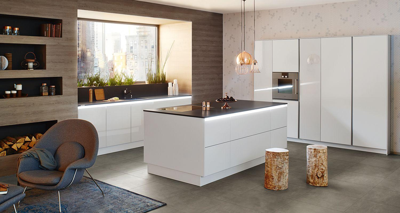 Keuken i wit i hoogglans keuken interieur idee n for Interieur keuken ideeen
