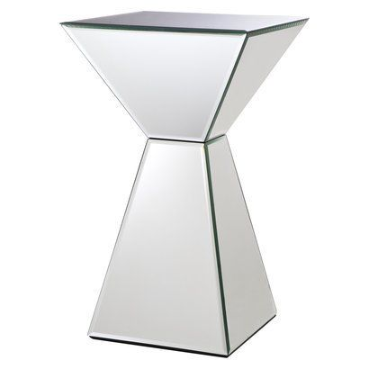 Mirrored Pyramid Living Room Accent Side End Table Bench Canada Home Vibes