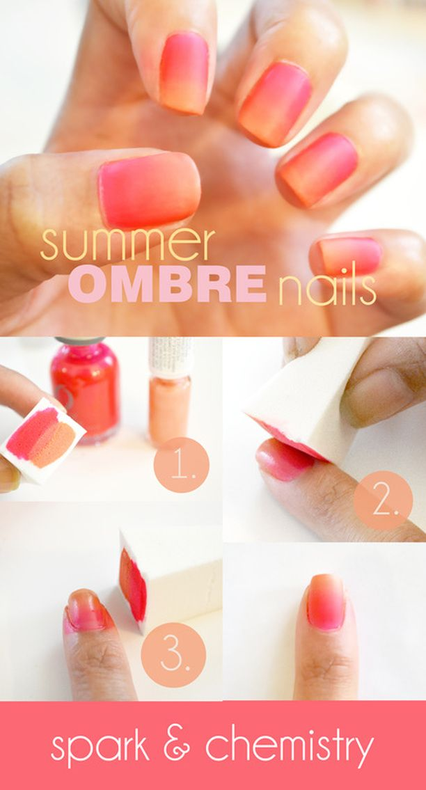 How to do a sizzling summer ombre nail!! Click for the full tutorial! theskinclinicinc.com
