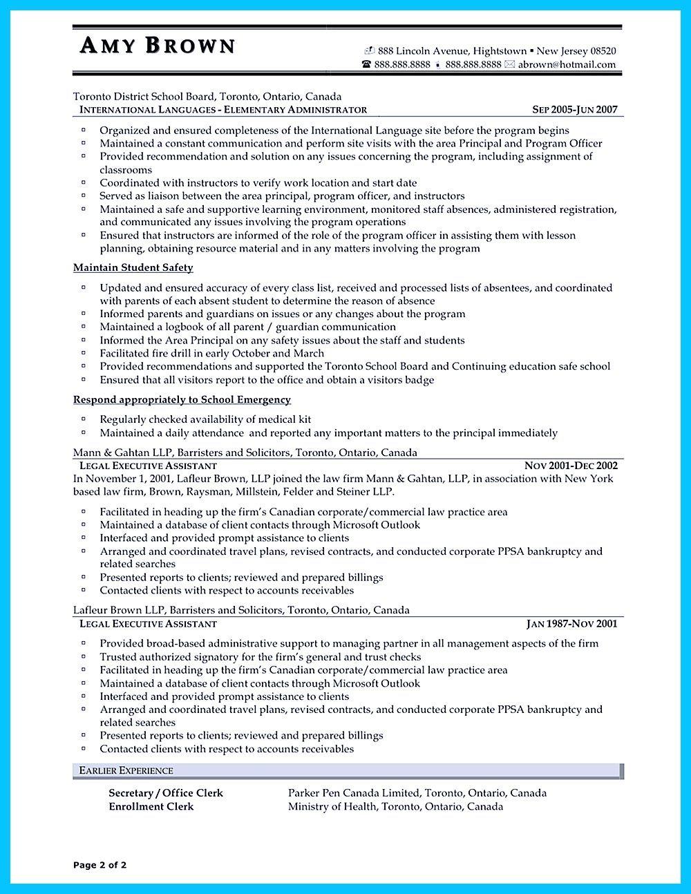 resume key word