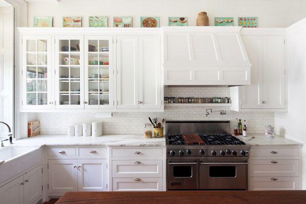 Big Island Kitchens Small White Kitchens White Kitchen Design Glass Kitchen Cabinets