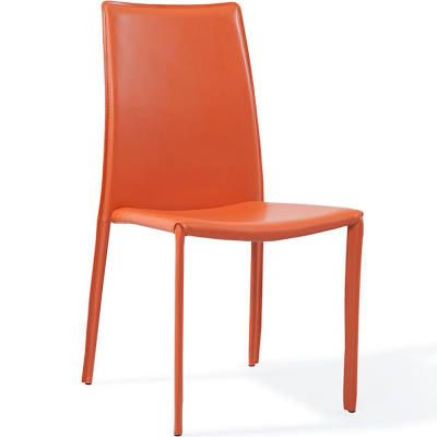 Modern Orange Upholstered Noah ... | Dining chairs, White ...