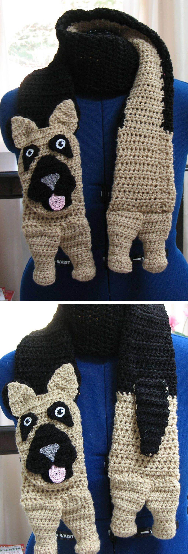 German Shepherd - Scarf Crochet Pattern - German Shepherd Scarf ...
