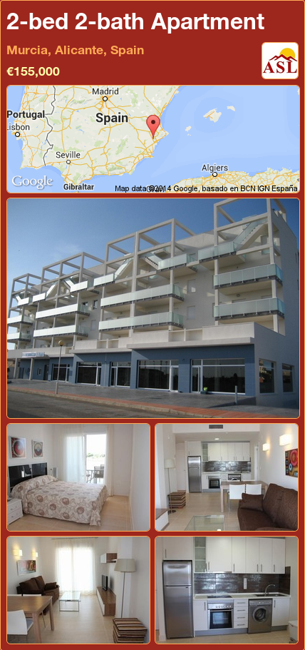 2-bed 2-bath Apartment in Murcia, Alicante, Spain ...