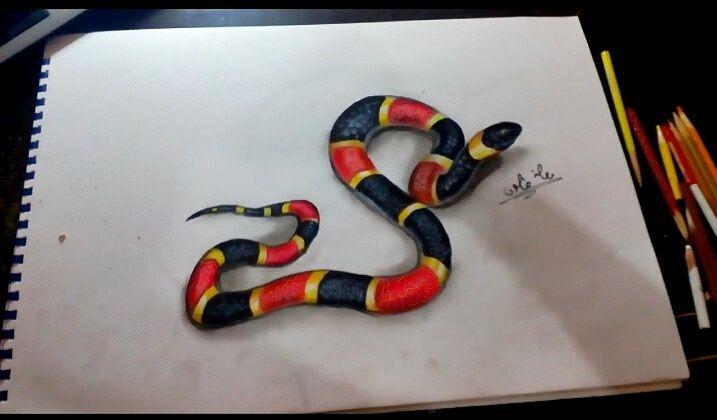 رسم ثعبان 3d معاذ طاحون Animals Snake