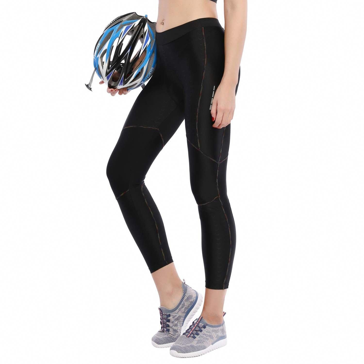 Women S Bike Pants Cycling Tights Padded 4d Bicycle Long Legging Breathable Quick Dry Black Cb18i2cn7no Outdoor In 2020 Bike Pants Cycling Tights Long Leggings