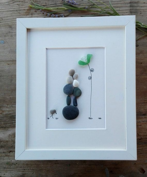 Pebble art mother doughter Mother doughter by pebbleartSmiljana
