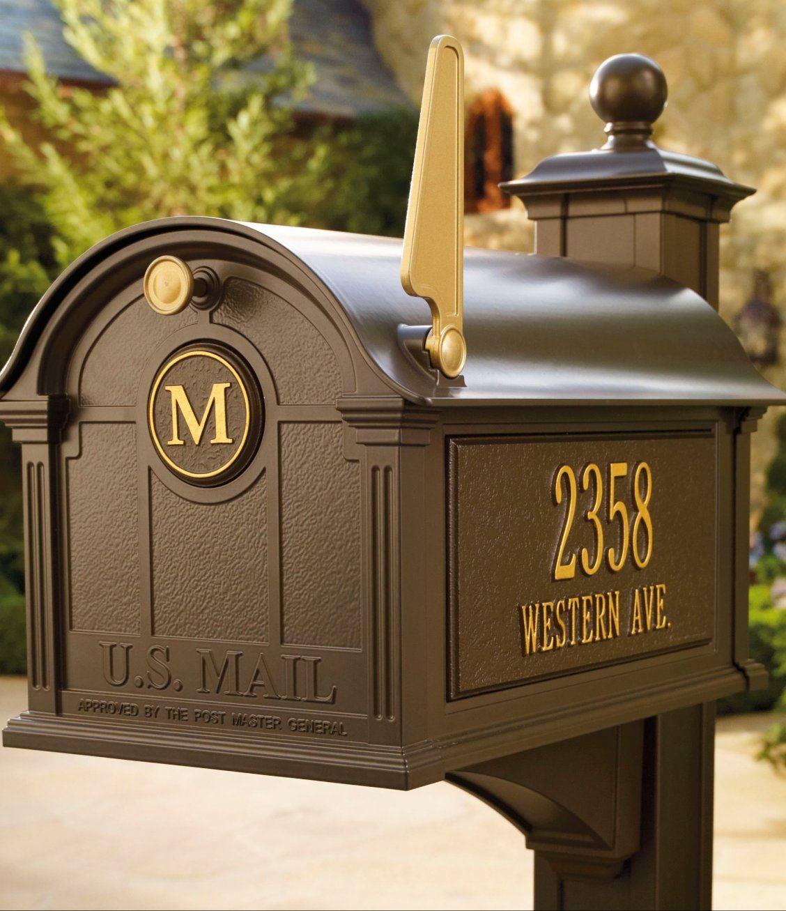 Balmoral Mailbox Traditional Mailboxes Door Initial Mailbox