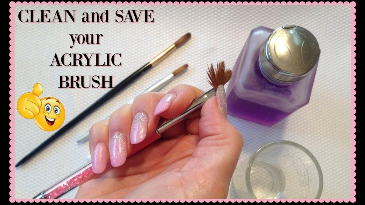 How To Revive And Clean Your Hard Acrylic Nail Brush Bestmanicureforshortnails Acrylic Nail Brush Nail Brushes Acrylic Nail Tips