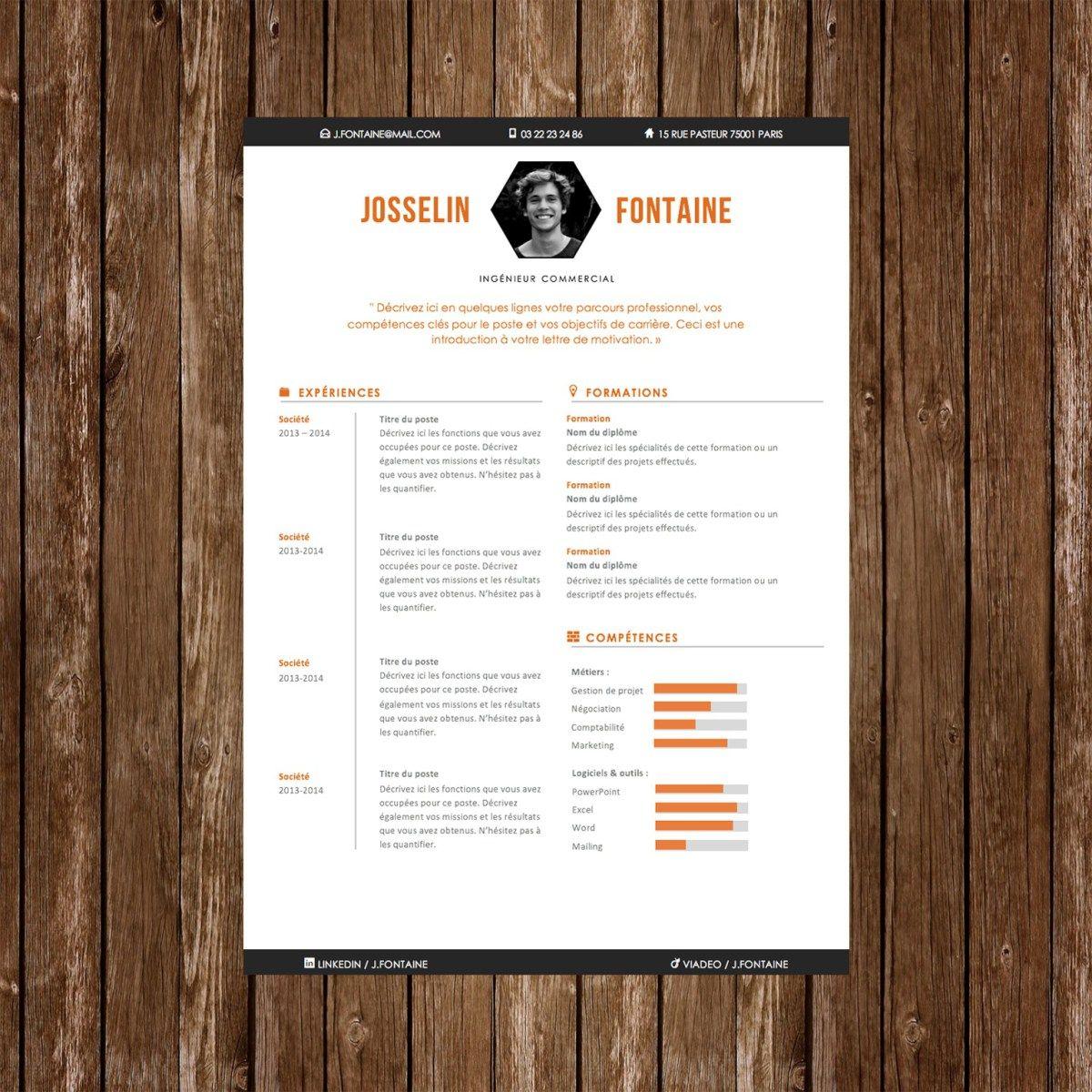 Plus de 50 Modèles de CV Design À Télécharger Modèle de