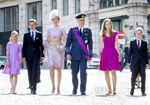 Queen Mathilde of Belgium In Natan – The Belgian Royal Family Celebrates National Day