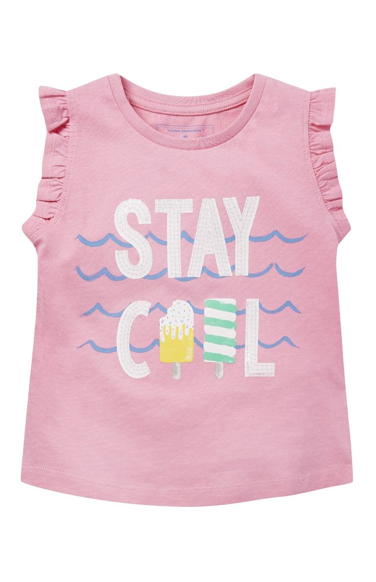 Primark Pink Stay Cool Frill Sleeve Top Cute outfits
