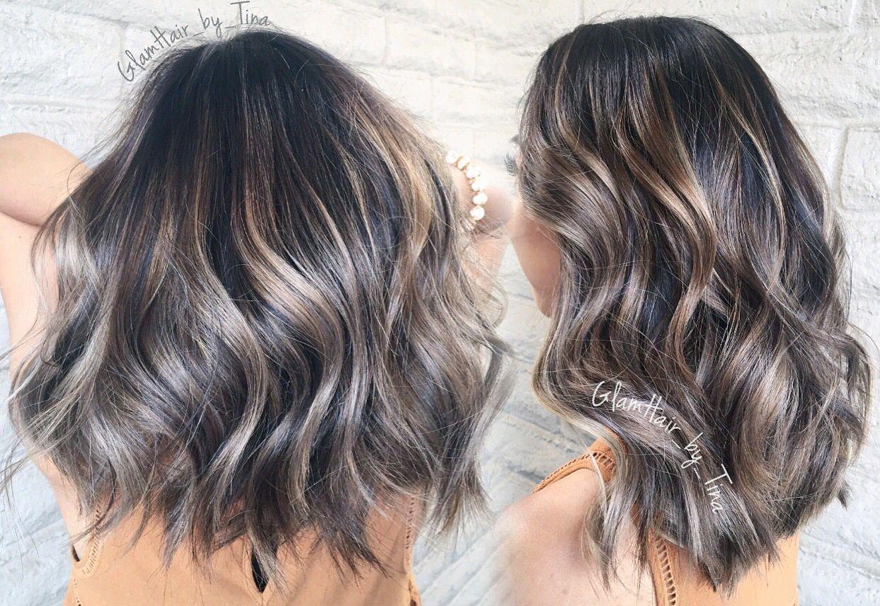 Ashy Blonde Brown Silver Balayage Constanceyo Hair