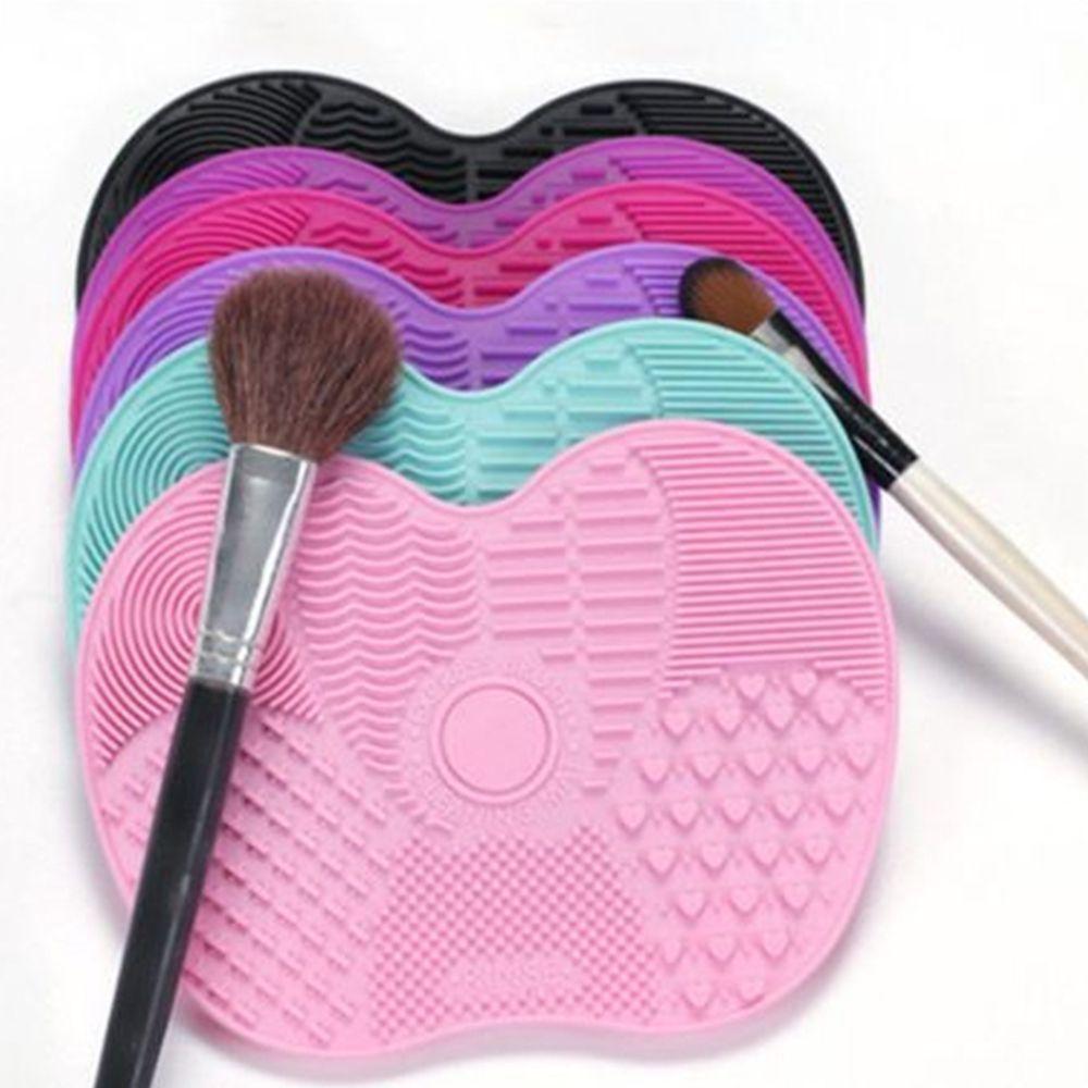Photo of Kleine Silikon Make-up Pinsel Reiniger Pad Make-up Pinsel Reinigungsmatte Kosmet…