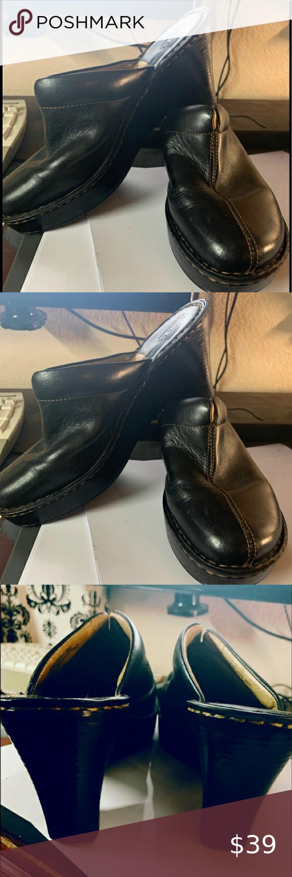 Spotted while shopping on Poshmark: Women's Born Black leather slip on clog, new! #poshmark #fashion #shopping #style #Born #Shoes