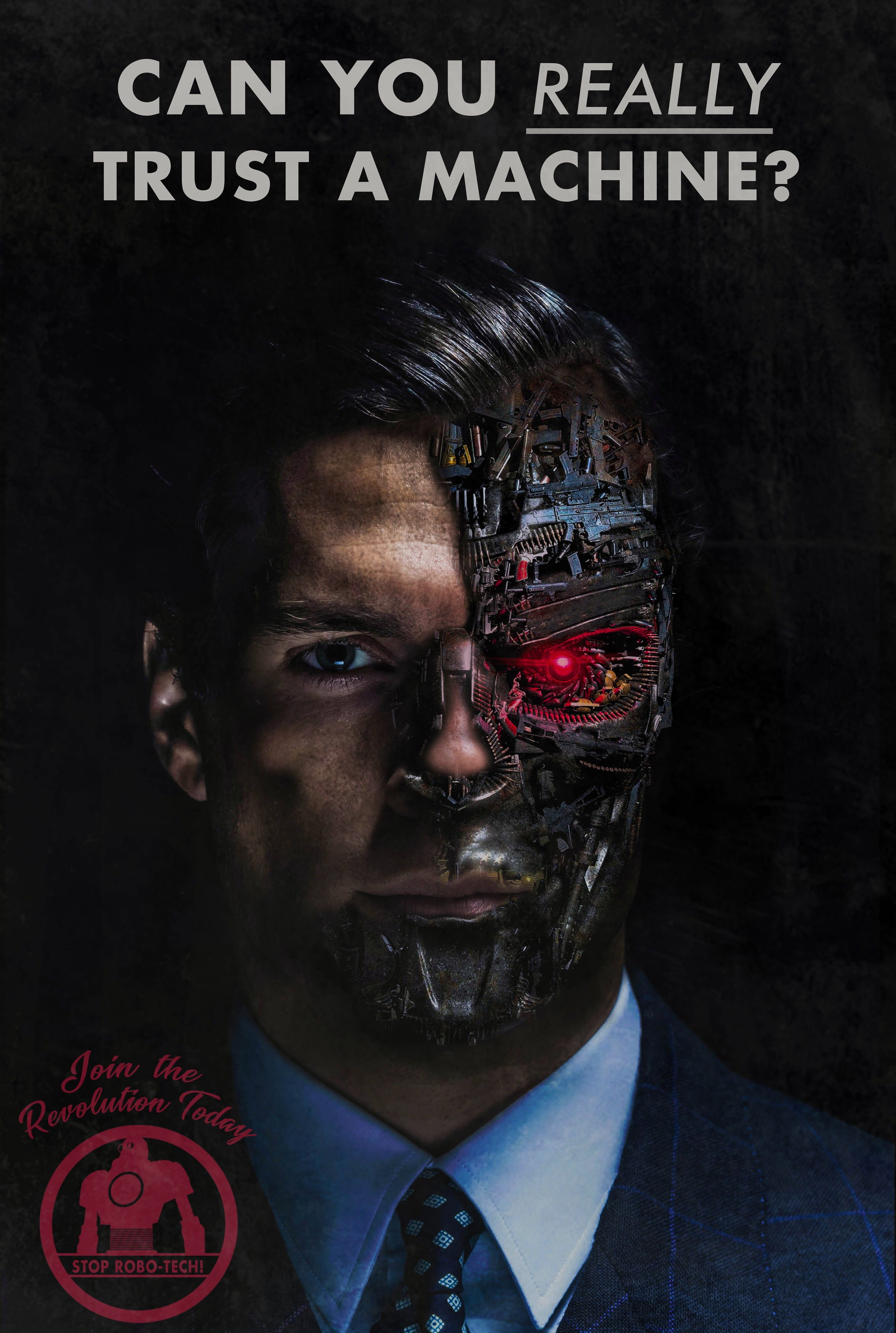 Fake propaganda poster I made for a robotics poster