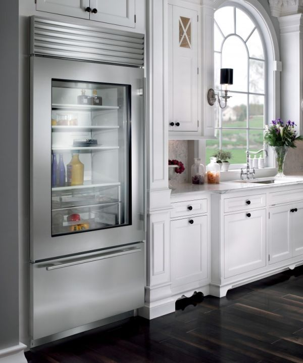 Glass Door Refrigerators Designs Ideas Inspiration And Pictures Glass Front Refrigerator Glass Door Refrigerator Home Kitchens