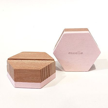 Beech Hexagon Placecard Holders More Colors Place Card And - Place card dimensions