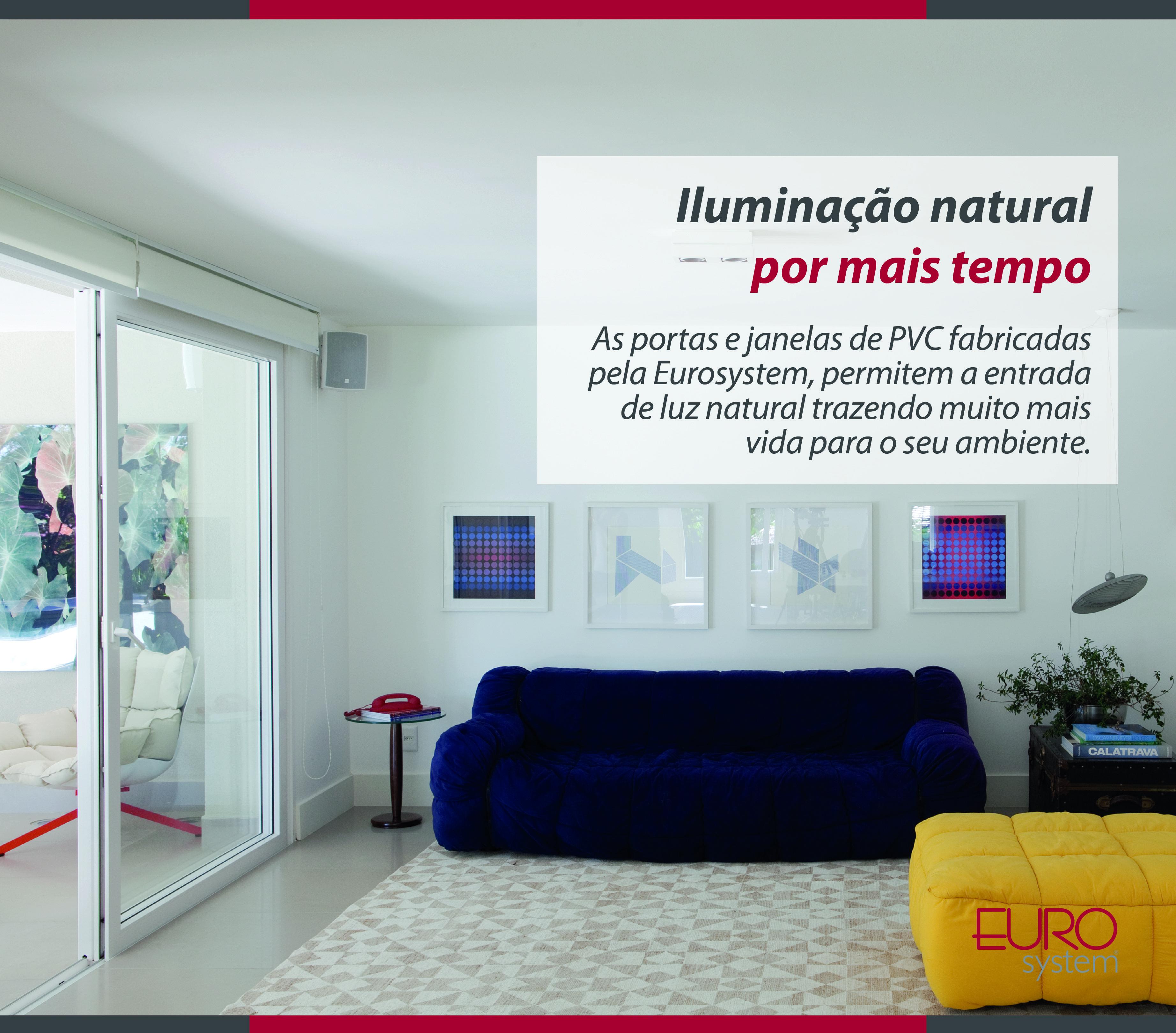 Iluminação natural por mais tempo!  As portas e janelas de PVC fabricadas pela Eurosystem, permitem a entrada de luz natural trazendo muito mais vida para o seu ambiente.  #Eurosystem #SoluçõesInteligentesParaSeuProjeto #EsquadriasdePvc #PorqueSeuProjetoMereceoMelhor