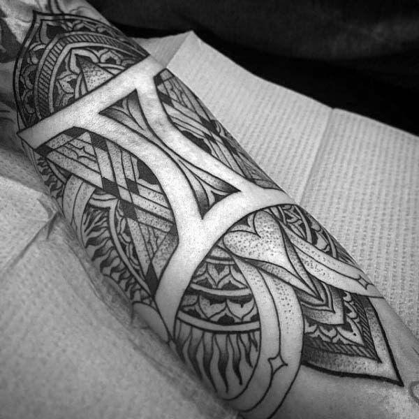 3a3ee1206 Negative Space Guys Pattern Gemini Inner Forearm Tattoo Gemini Tattoo  Designs, Tattoo Designs Men,