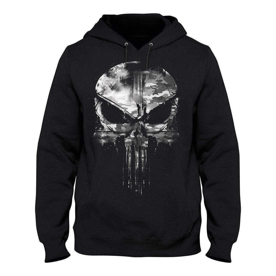 Punisher Printed Hoodies Zipper Sweatshirt Cosplay Sports Hooded Jacket Top