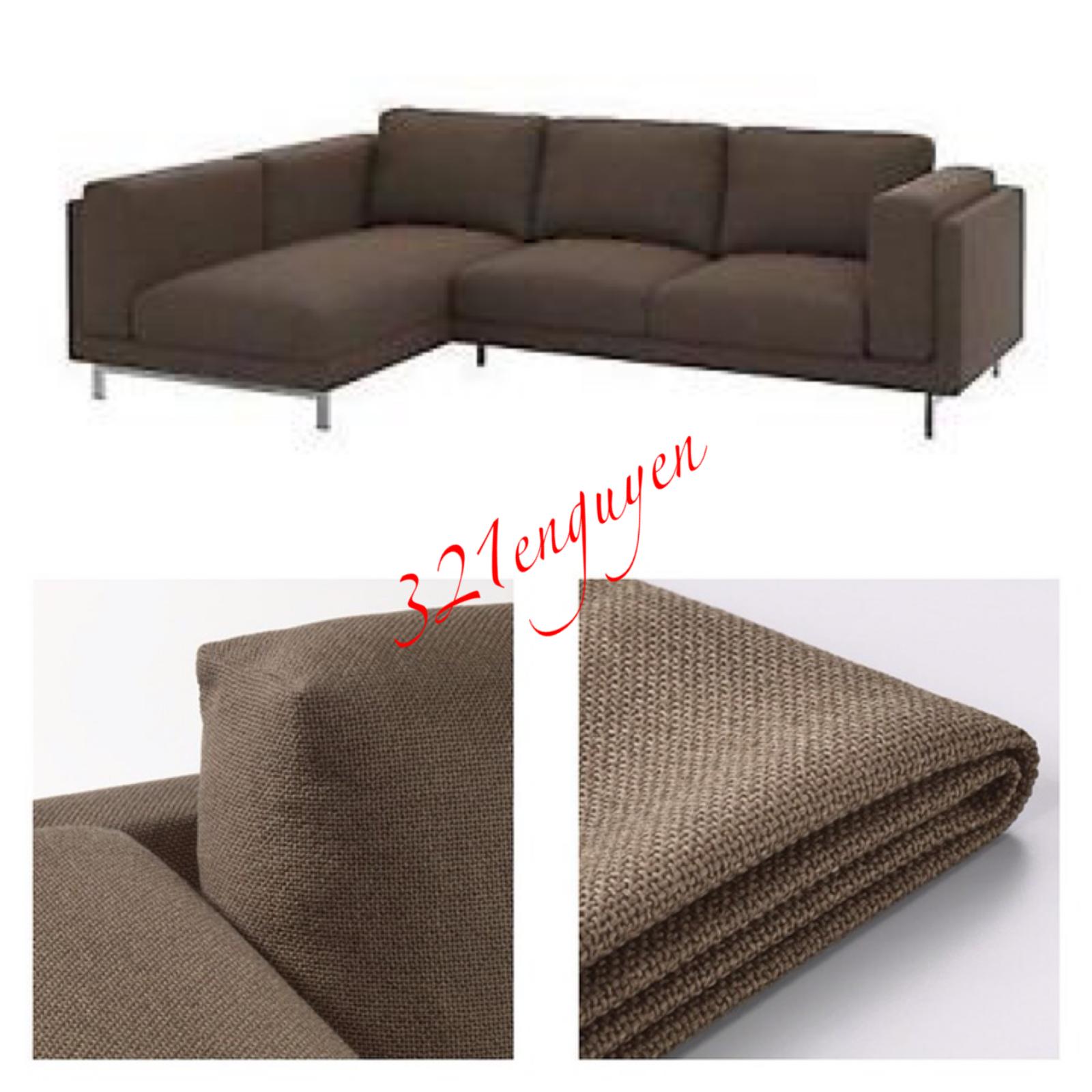Excellent Ikea Nockeby 3 Seat Sofa W Left Chase Slipcover Cover Teno Inzonedesignstudio Interior Chair Design Inzonedesignstudiocom