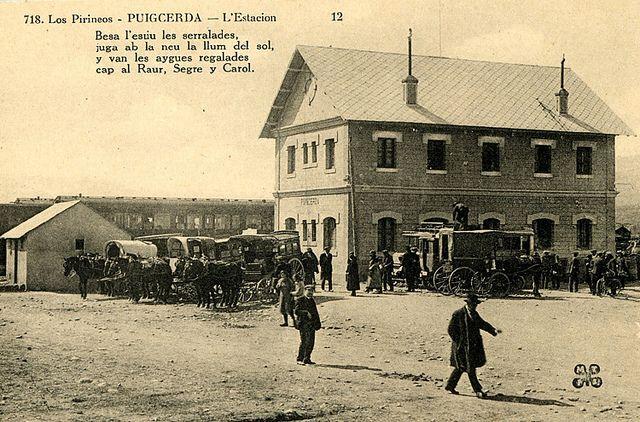 Los Pirineos – Puigcerdá – L'estació [sic] by Museu del Ferrocarril de Catalunya, via Flickr