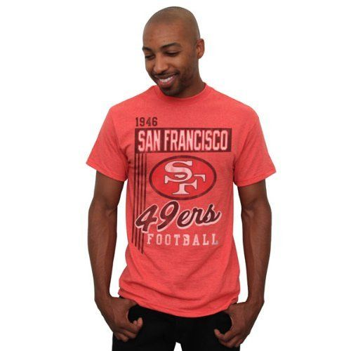 San Francisco 49Ers Red Vintage Vertical Lines T-Shirt by NFL.  19.99. Rib dc0115b58