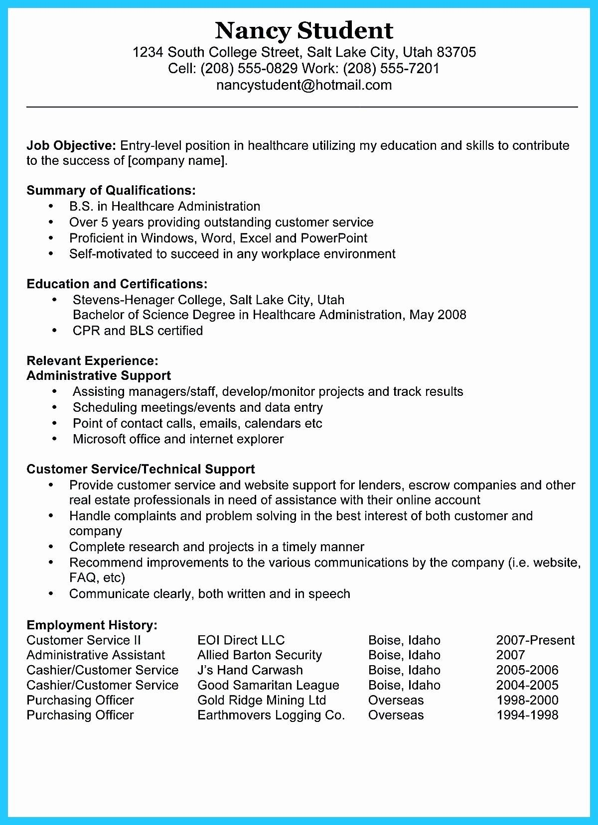 Direct Care Worker Resume Fresh 10 Experienced Warehouse Worker Resume Sample Resume Templates Resume Objective Examples Resume Template Examples