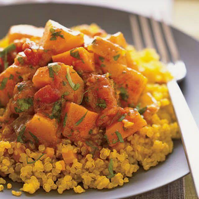 Recette de quinoa avec courge d'hiver marocaine et ragoût de carottes | Délicieux