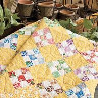 yellow and scrappy i - http://quiltingimage.com/yellow-and-scrappy-i/