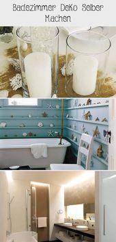 Badezimmer Deko Selber Machen  - Dekoration #wand deko #Wand Deko flur #Wand Deko bilderrahmen #wanddekoselbermachen