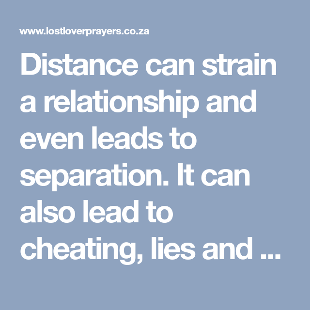 Long distance relationship spells to bind a couple together