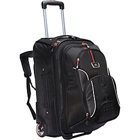 High Sierra AT6 Carry On Wheeled Backpack with Removable Daypack - Black - via eBags.com!
