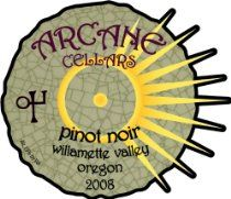2008 Arcane Cellars Pinot Noir, Willamette Valley, 750 mL #wine #winelabels #redwine #whitewine