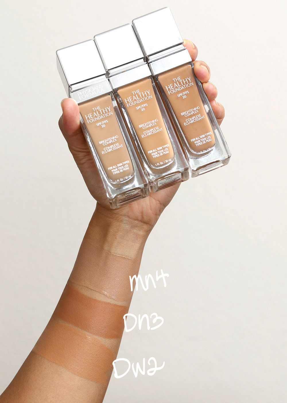 Physicians Formula The Healthy Foundation shade swatches ...