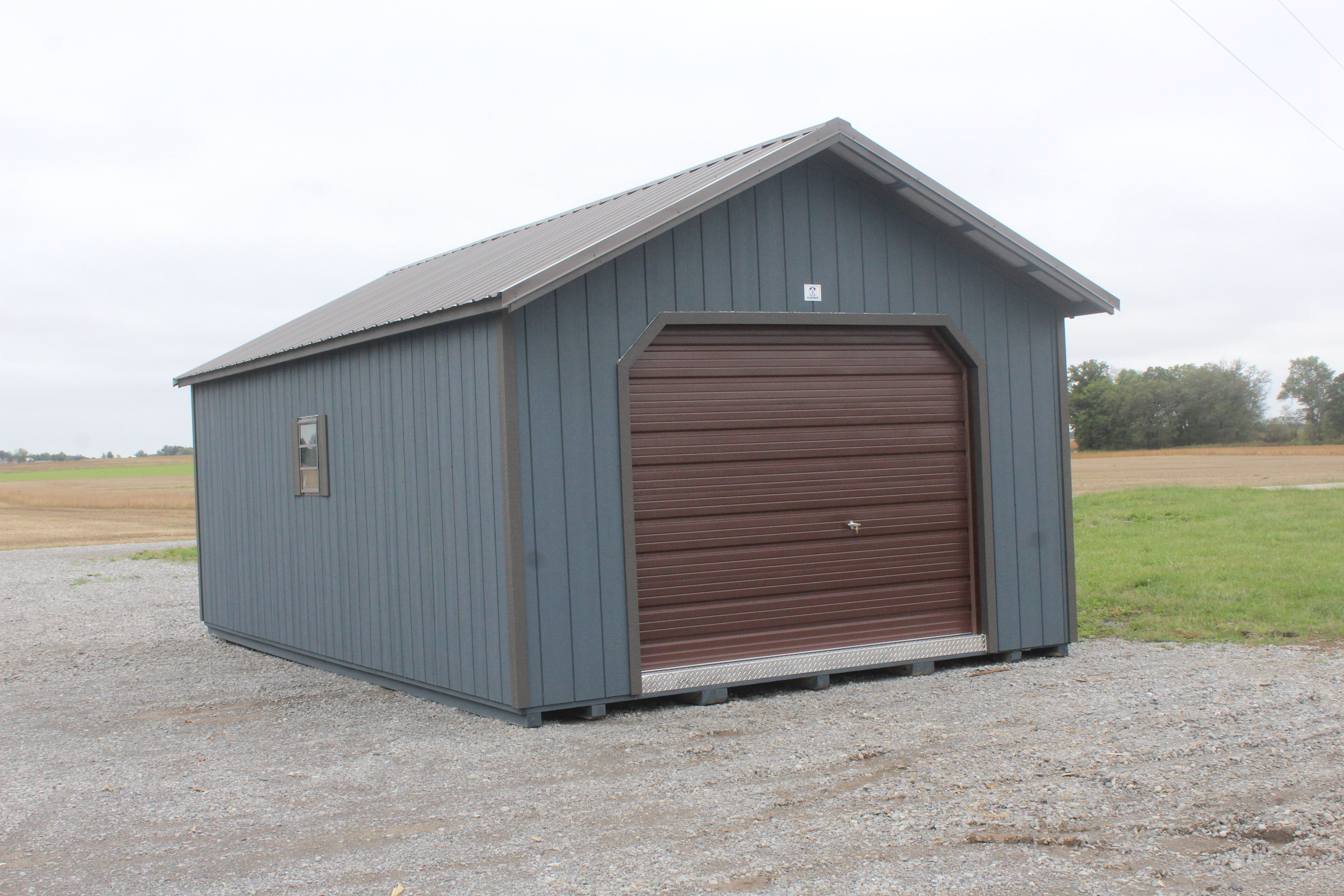 14 X 24 Utility Garage Built By K K Storage Barns Portable