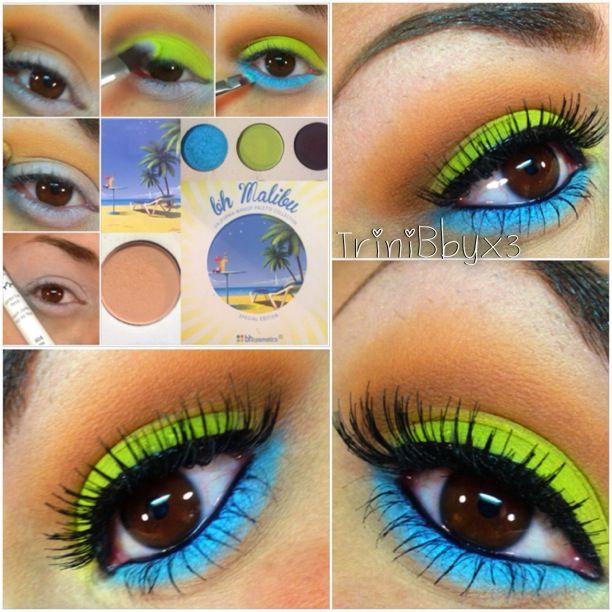 Bh Cosmetics Malibu Palette Colorful Bright Makeup Colorful