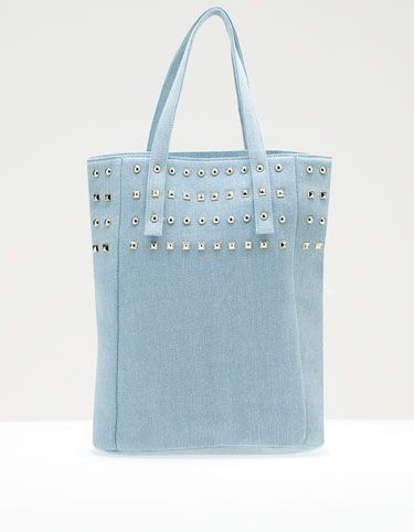Denim shopping bag --  Bolso shopper jeans tachas