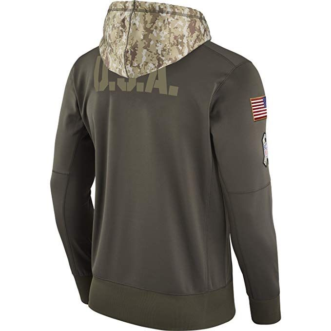 26b2155aa Amazon.com  Nike NFL Salute to Service Sideline Pullover Hoodie - Hooded Sweatshirt  2017  Clothing