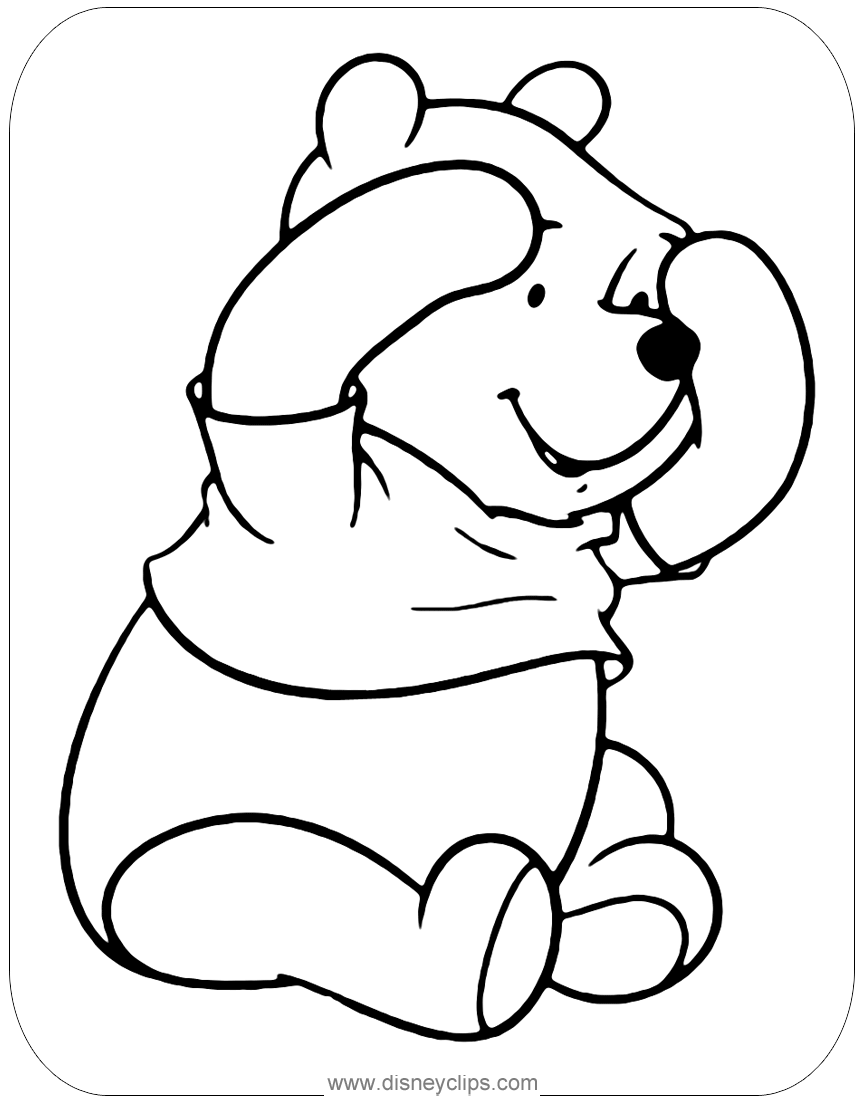 - Cute Winnie The Pooh Peek-a-boo Coloring Page #winniethepooh