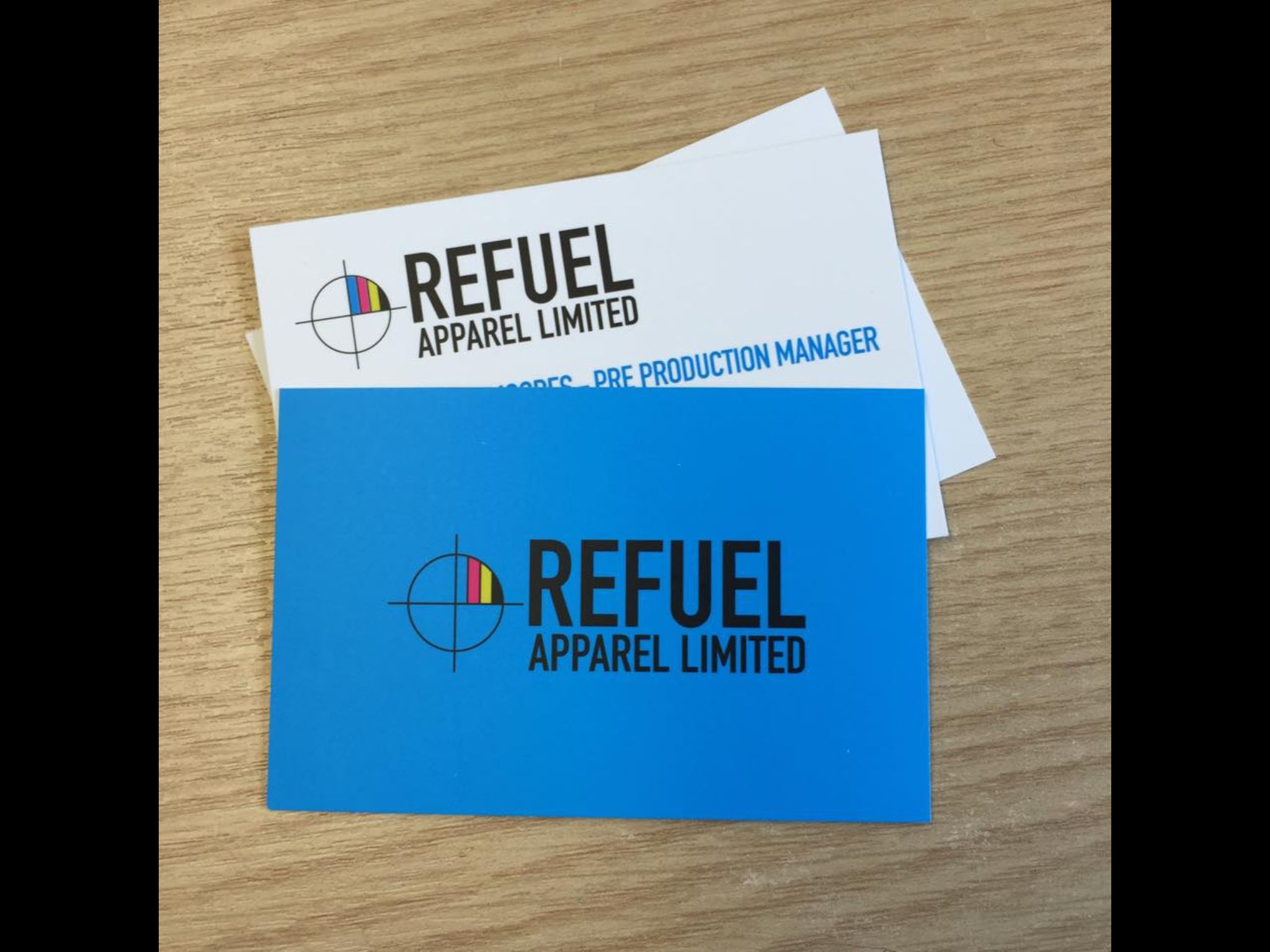 #BusinessCards #CMYK for #RefuelApparel #Sportswear