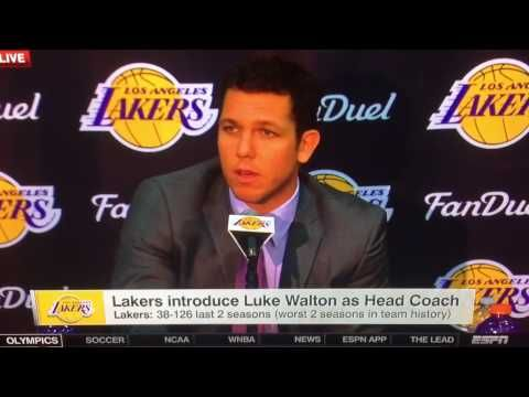 LA LAKERS INTRODUCE LUKE WALTON AS HEAD COACH