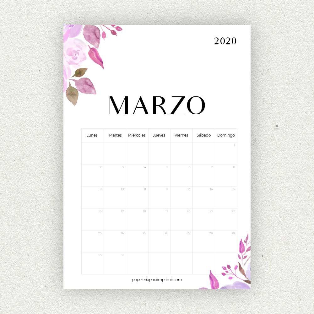 Calendario Marzo 2020.Calendario Marzo 2020 Para Imprimir Calendario Calendar