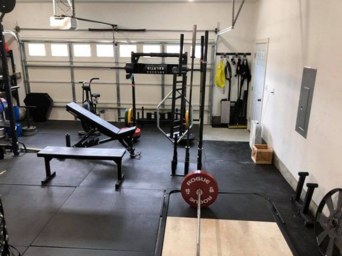 Ridiculous home gym setups basement gym flooring at home
