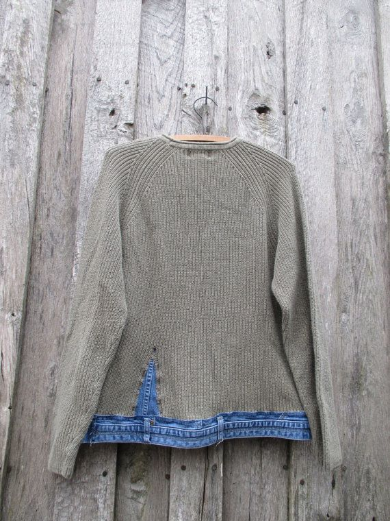 Refashioned Sweater Upcycled By Free Range Rags Steampunk