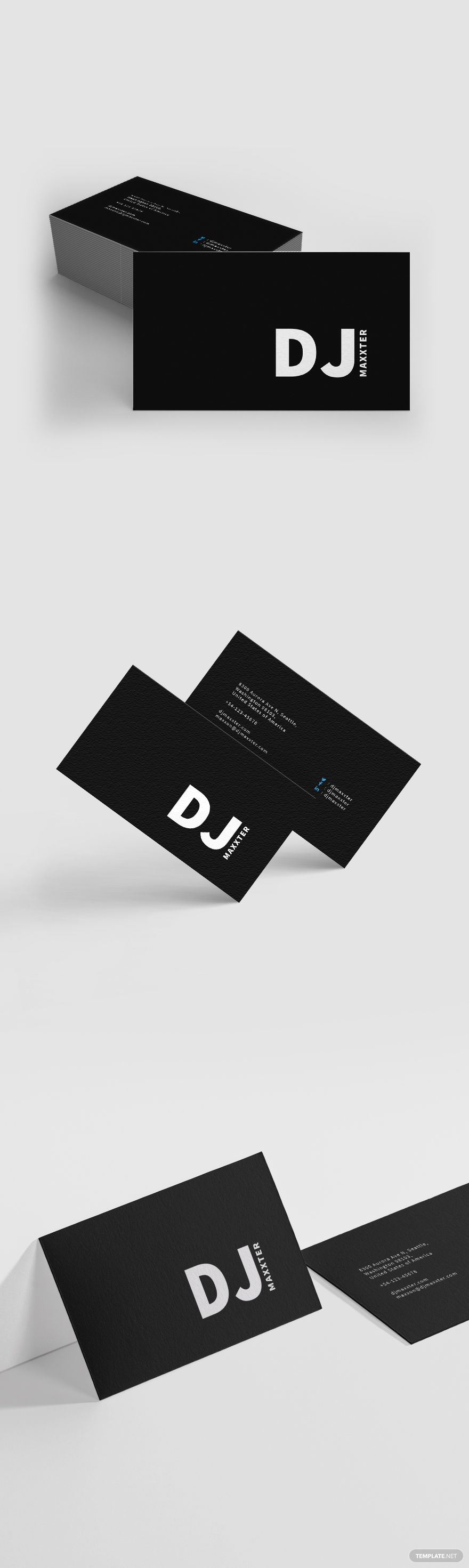 Modern Dj Business Card Template Word Doc Psd Apple Mac Pages Publisher Illustrator Dj Business Cards Business Card Template Word Business Card Template