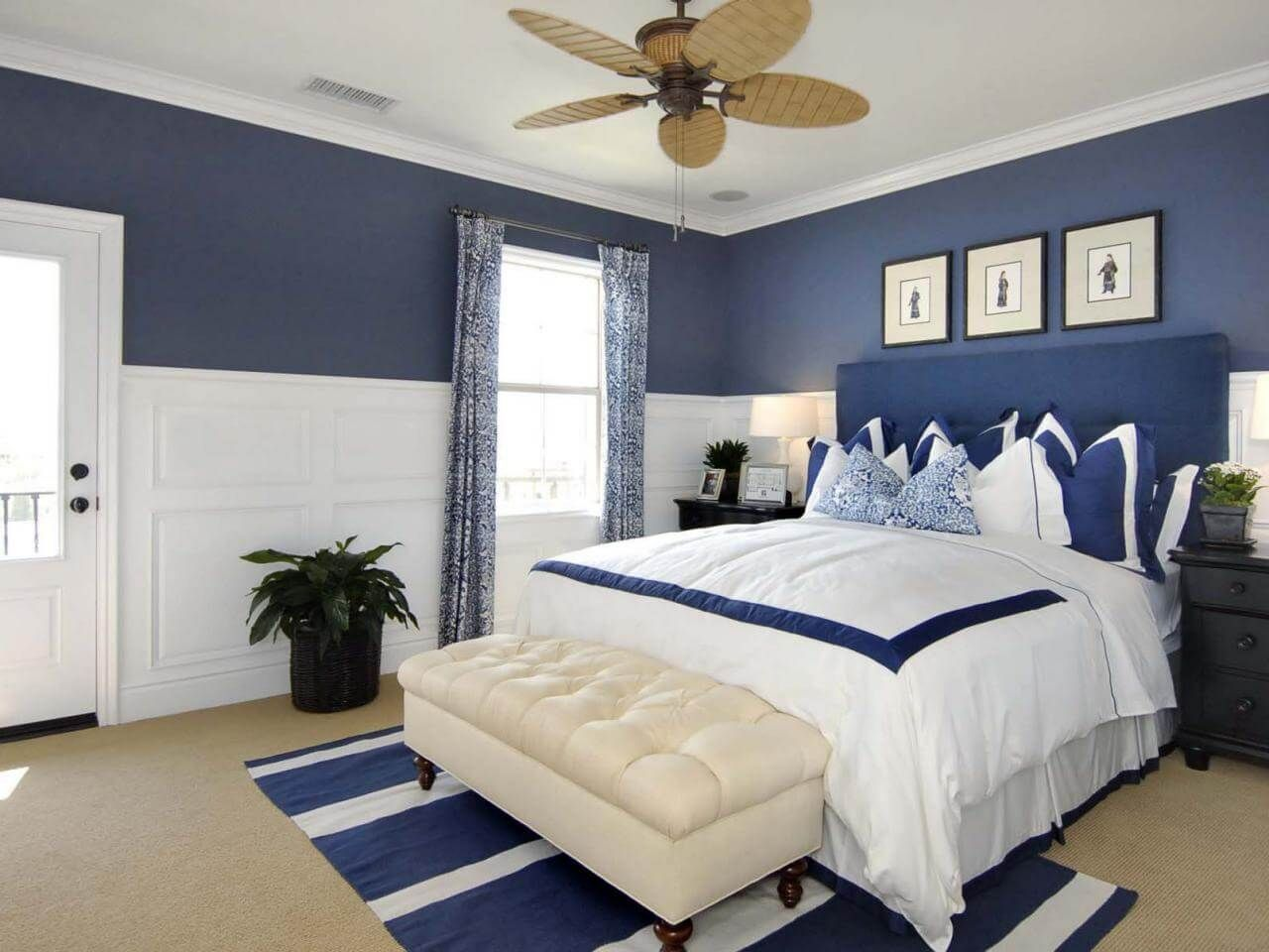 10 Blue Bedroom Ideas 2020 (Graceful and Mild) White