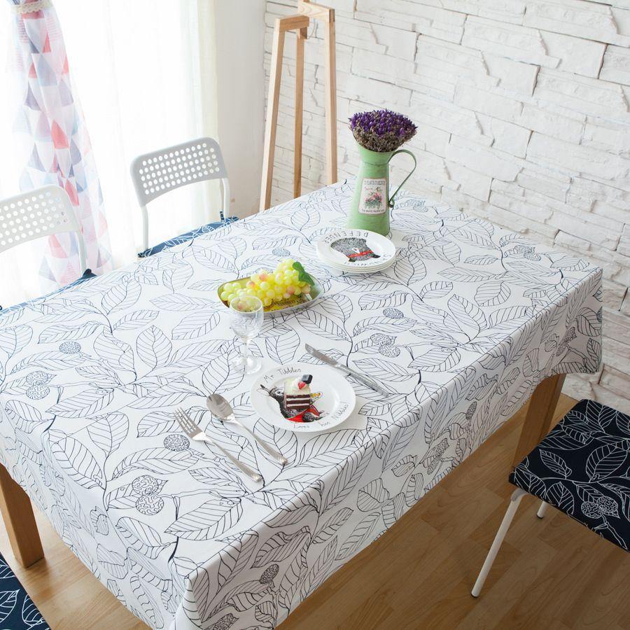 Customized Cotton Table Cloth Europe Style Rectangular Christmas